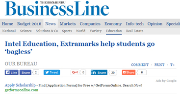 Intel Education Extramarks help students go bagless